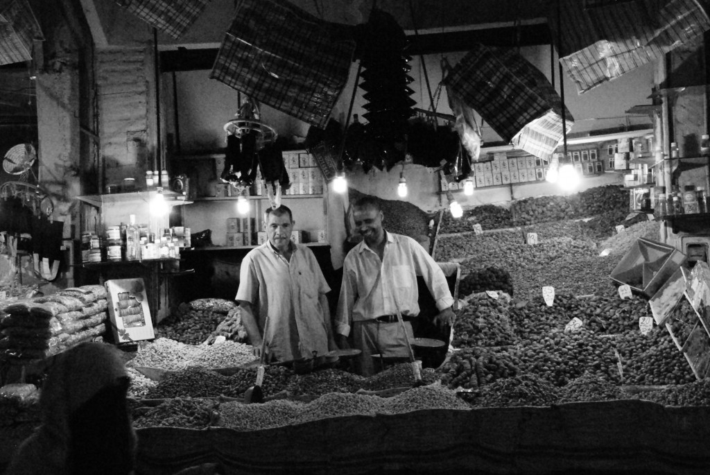 One of many spice merchants in the souk, Morocco's largest traditional market.