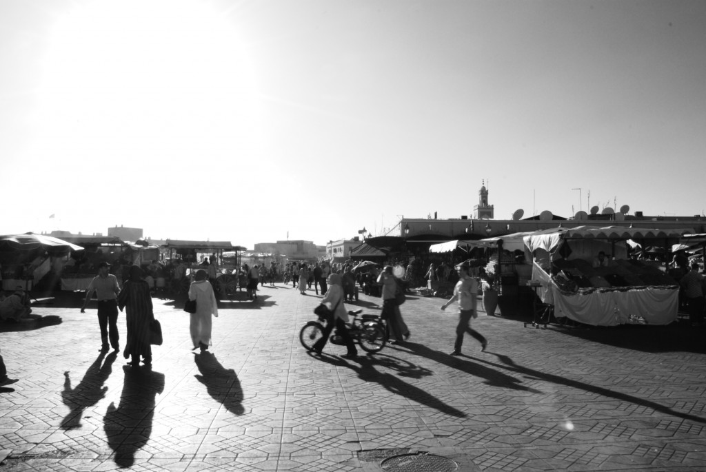The souk opens onto Jemaa el-Fna, or simply la place, one of Africa's busiest squares.