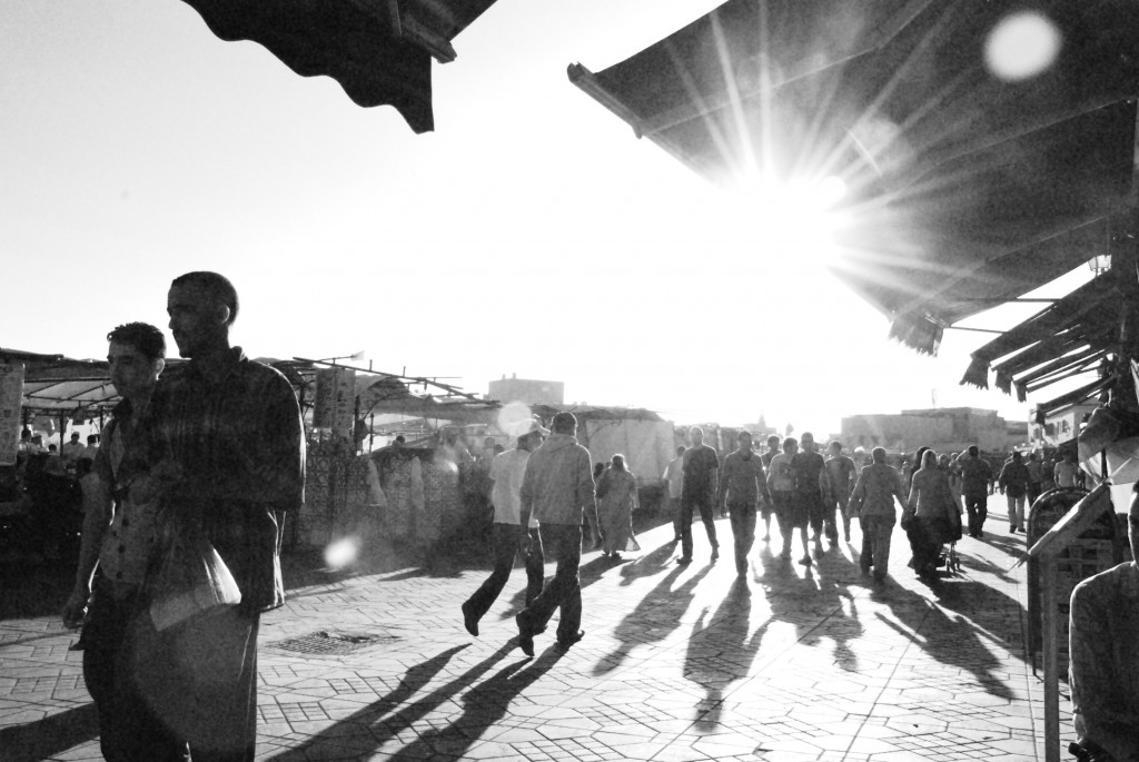 Today Jemaa el-Fna is the bustling centre of Marrakech, frequented by both locals and tourists.